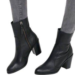 Splendid Roselyn Soft Leather Mid-Calf Black Boots US Size 10